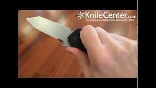 "Emerson Bulldog Folding Knife 3.2"" Stonewash Plain Tanto Blade"