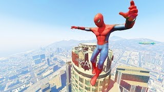 GTA 5 SPIDERMAN Epic Moments & Ragdolls Compilation (GTA 5 Fails Funny Moments)