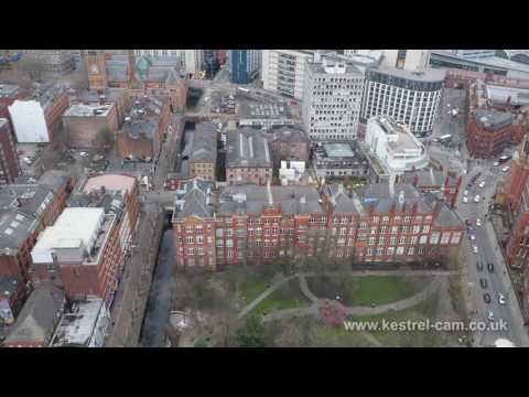Manchester City Centre Drone Video Footage 2