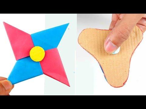 2 Best Way To Make A Paper Fidget Spinner WITHOUT BEARINGS! - DIY Cardboard Fidget Spinner