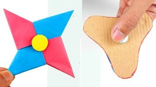 2 Best Way To Make A Paper Fidget Spinner WITHOUT BEARINGS! - DIY Cardboard Fidget Spinner
