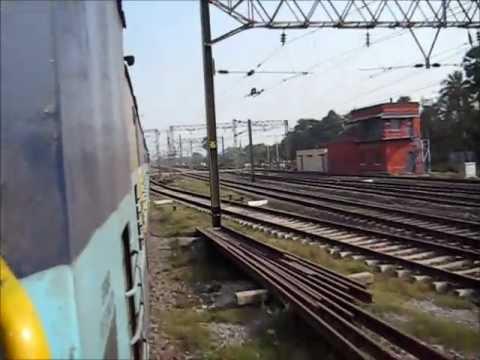 Charecteristic Alco Chugging and Honking as WDM3A Powered Shantiniketan Express Accelerates