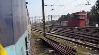 Charecteristic Alco Chugging and Honking as WDM3A Powered Shantiniketan Express Accelerates
