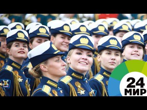 Девушки и кабриолеты: как прошел парад Победы на Красной площади - МИР 24