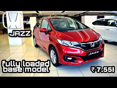 feature loaded Honda jazz 2021 base model detail walk around   v varient    Abhishek patangay  
