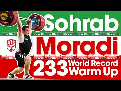 Sohrab Moradi 5 Lifts to Warm Up to a 233kg Clean & Jerk World Record 2017 World Championships