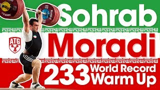 Sohrab Moradi 233kg Clean & Jerk World Record with Warm Ups at 2017 World Championships