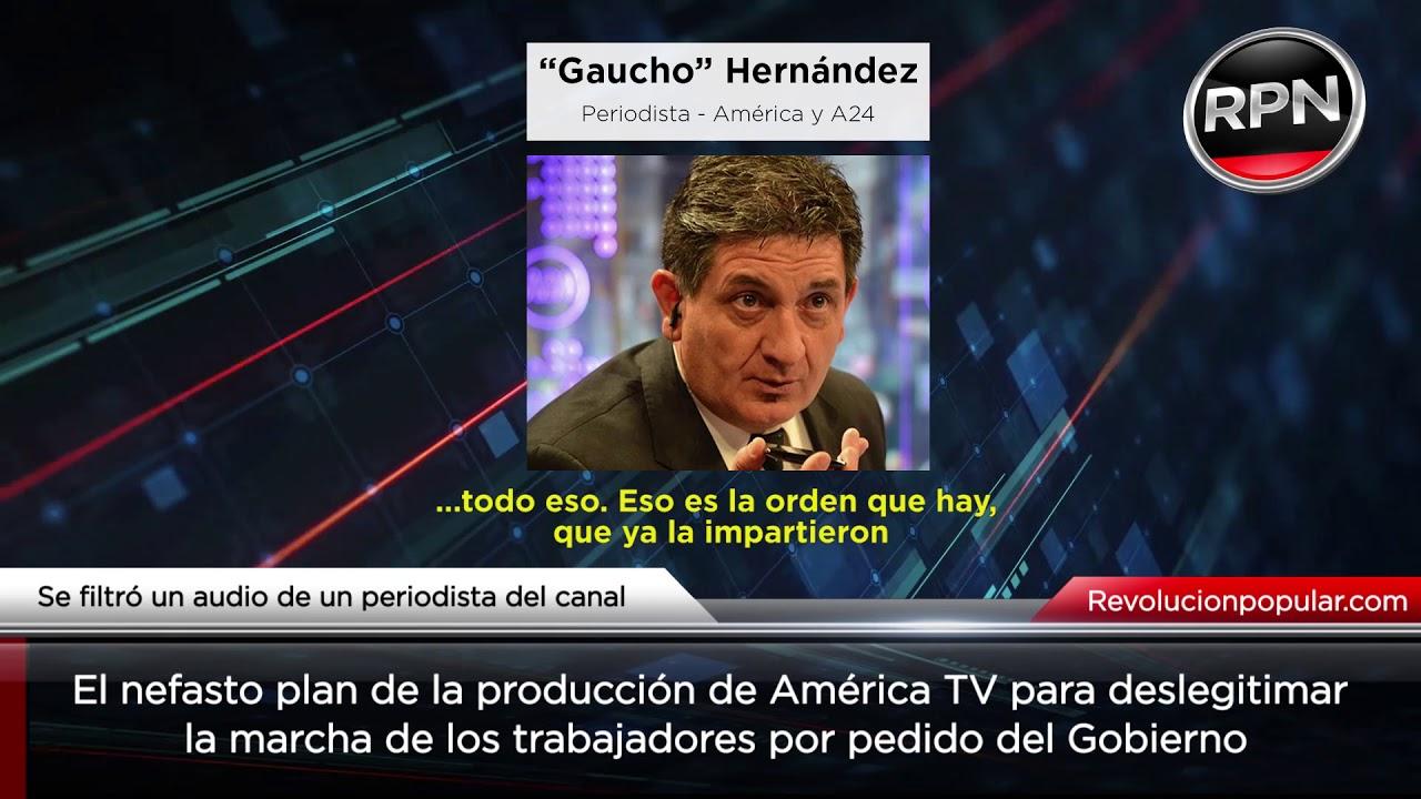 URGENTE: se filtró audio que revela el plan de América TV para deslegitimar la marcha del 21