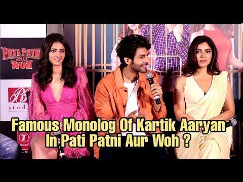 Kartik Aaryan MONOLOG In Pati Patni Aur Woh ? | REACTION Mp3
