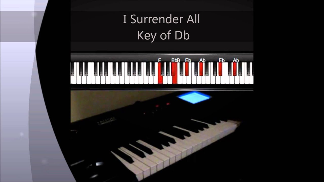 I surrender all chords youtube i surrender all chords hexwebz Images