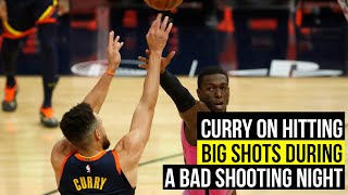 Curry on mentality of hitting big shots during an off night