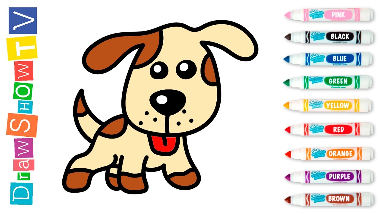 How To Draw Dog Coloring Book For Kids