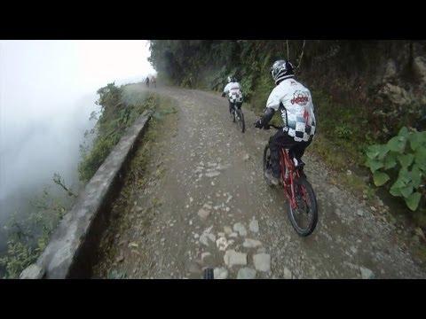The Death Road, Downhill Mountain Bike Ride - Bolivia