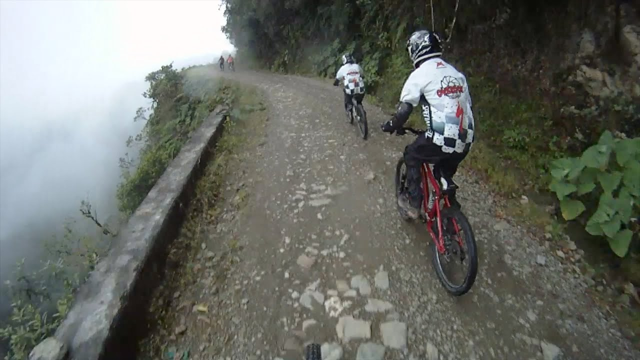 The Death Road Downhill Mountain Bike Ride Bolivia Youtube