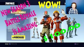 NEW FORTNITE BATTLE SEASON 3 (10,000 + 3,500 BONUS V BUCKS) LET'S GO!!!