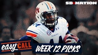 Week 12 College Football Spread Picks, Georgia Vs Auburn, Stanford Vs Usc, And More (easy Call)