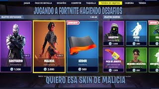 Fortnite - Playing and challenging pd I want the malice skin :(