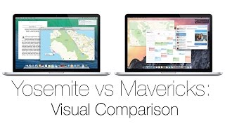 Apple Yosemite vs Mavericks (10.10 vs 10.9) Mac OS X: Visual Comparison