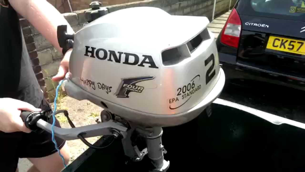 Honda 4 Stroke 2hp Outboard Engine 2006 Model Youtube