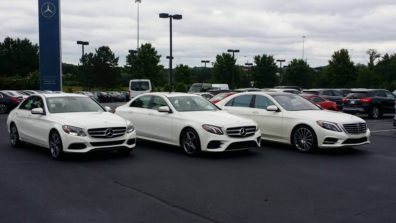 Comparing the Mercedes-Benz C-Class, 2017 E-Class and S ...