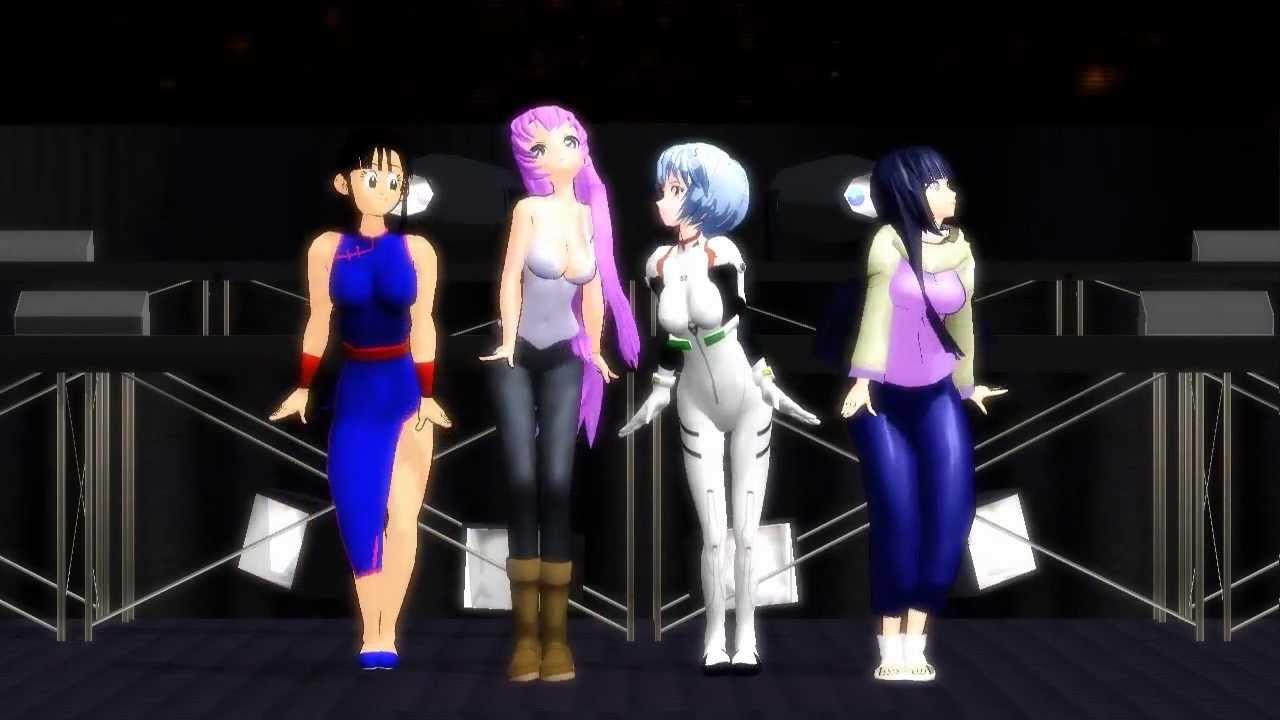 Mmd Anime Girls Poker Face Youtube