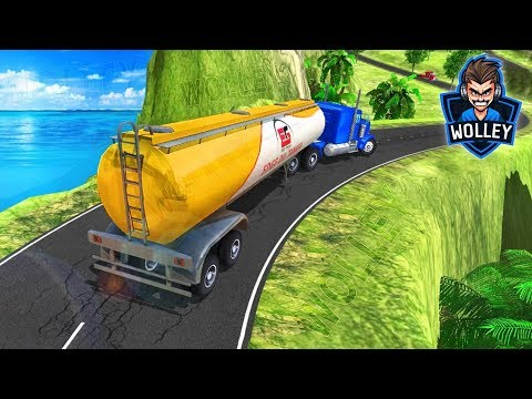 Oil Tanker Transporter Supply Truck - Android Gameplay FHD Oil Tanker Truck Sim Hill Climb For Kids