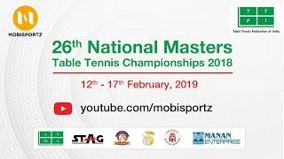 Ajay/Prashant (GUJ) Vs Satyam/Reshepu (AP)  - 26th National Master TT Championship 2018