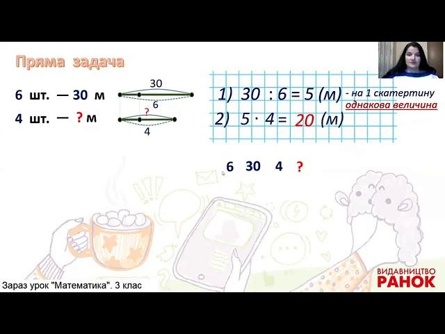 3 клас. Математика. Розв'язування задач