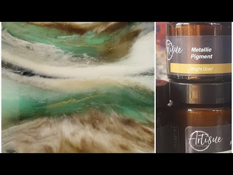 Resin painting Artisue Metallic Pigments demo. Amazing!!!