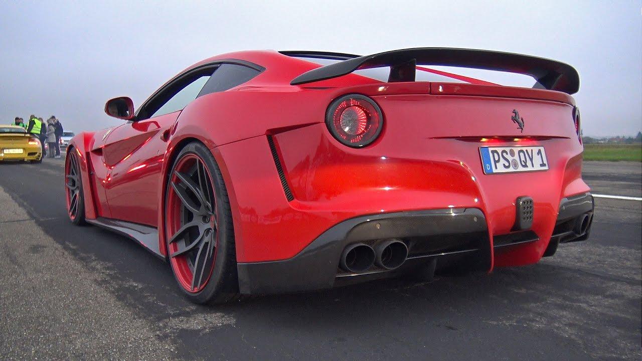 Ferrari F12 NOVITEC N-Largo - BRUTAL REVS & DRAG RACE!