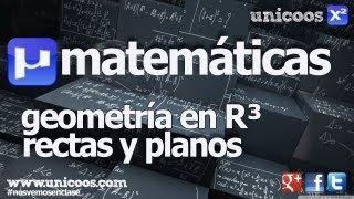 Distancia de un punto a un plano BACHILLERATO matematicas