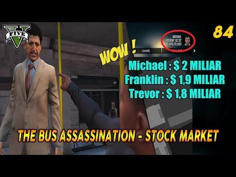 $ 2 MILIAR TANPA MOD, GLITCH/BUG, CHEAT ! MISI & SAHAM GTA 5 (84) THE BUS ASSASSINATION - GOLD MEDAL