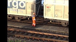 How to uncuppling freight cars