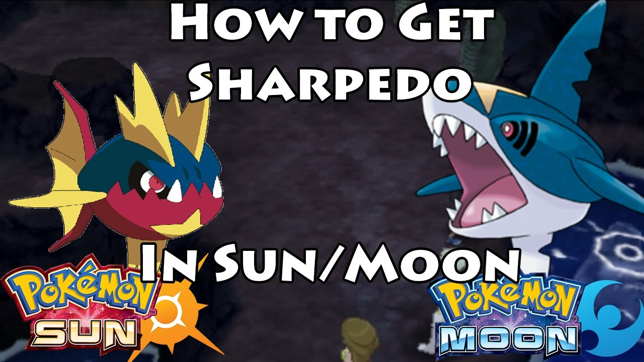 how to get sharpedo in pokemon sun moon carvanha by breeding youtube