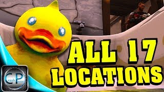 """""""Search Rubber Duckies"""" All Locations Week 3 Challenges Rubber Duckies Locations Fortnite Season 4!"""