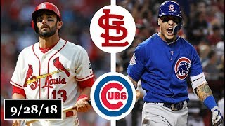 St. Louis Cardinals vs Chicago Cubs Highlights || September 28, 2018