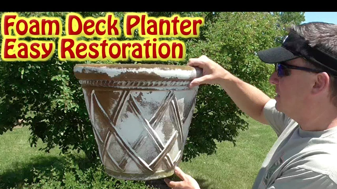 How To Restore A Foam Polyurethane Planter- Insulated & How To Restore A Foam Polyurethane Planter- Insulated - YouTube
