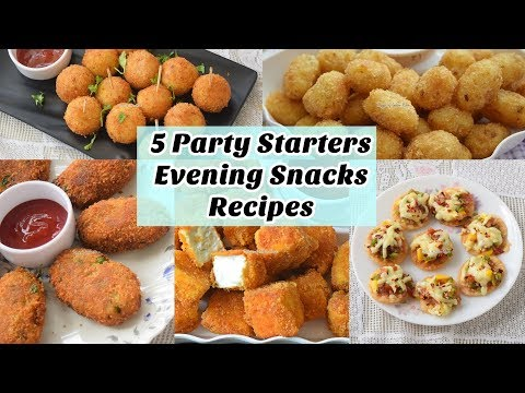 5 Quick Party Starters/Evening Snacks For Kids - ५ बच्चो के लिए शाम के नाश्ते या पार्टी स्नैक्स
