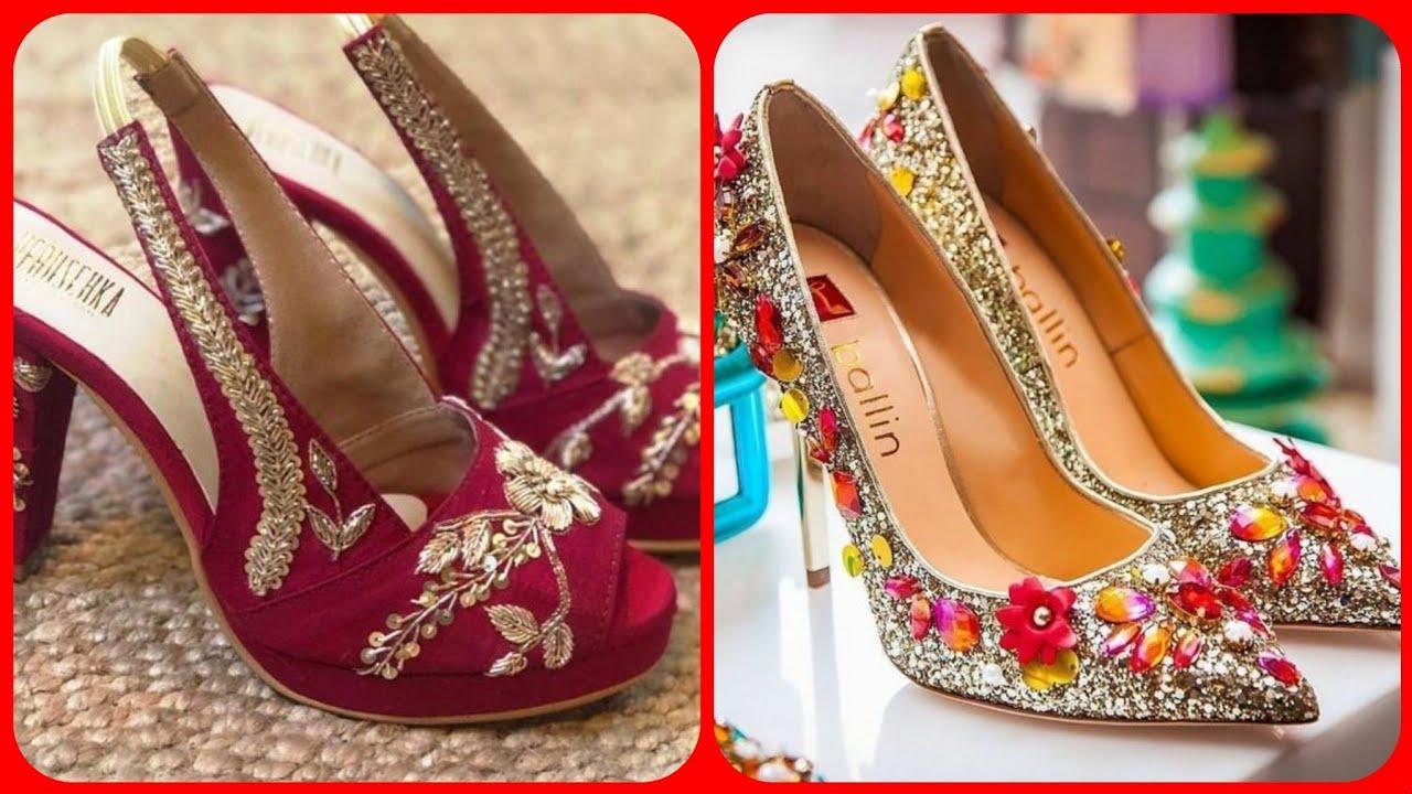 Spartky Shining Bridal Footwear Designs