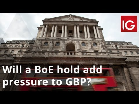 Will a Bank of England hold add pressure to the pound?