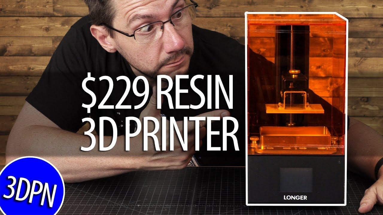 $229 Resin 3D Printer / Longer3D Orange 10 - Does It Work?