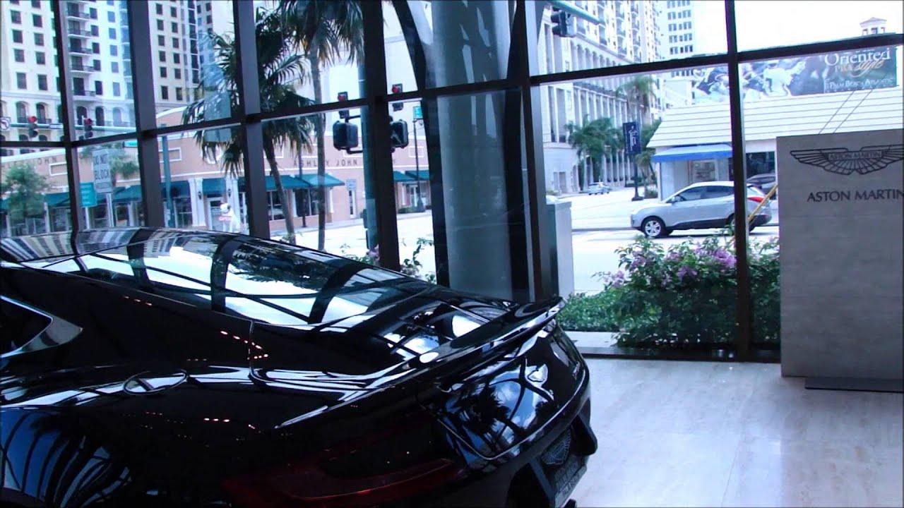 Black Aston Martin Vanquish Palm Beach Motor Cars YouTube - Palm beach aston martin