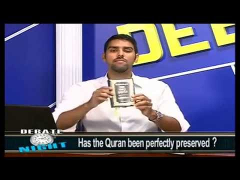 Dr. Nabeel Qureshi vs. Osama Abdallah Debate: Has the Quran been perfectly Preserved? Part 1 of 2