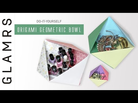 DIY Origami Geometric Paper Bowl | Paper Craft