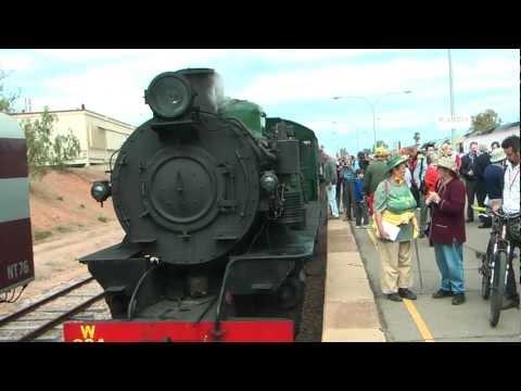 Centenary of East-West rail at Port Augusta, 14 September 2012.