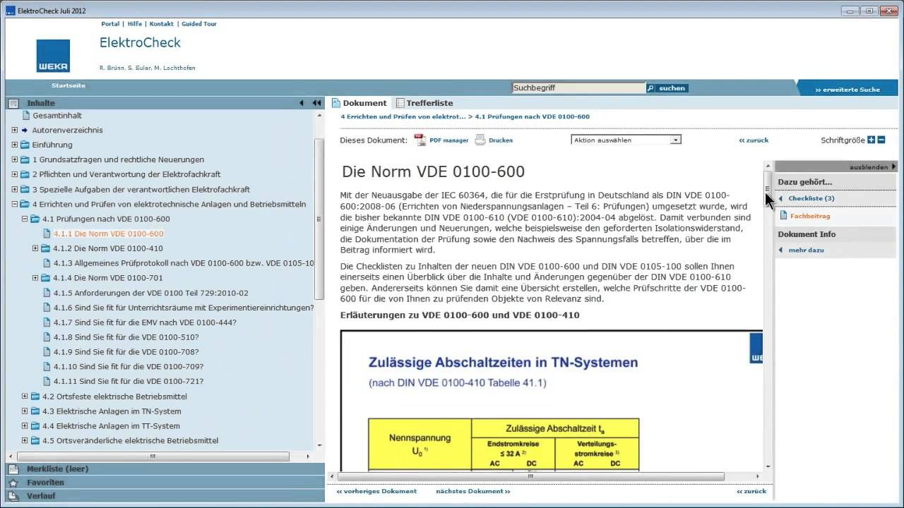 software elektrocheck schnell zur prfliste und prfprotokoll - Prufprotokoll Bgv A3 Muster