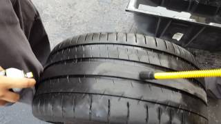 Finding a slow tire leak with the Bullseye