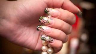 Blondeful acrylic nails!!!Woooo Thumbnail