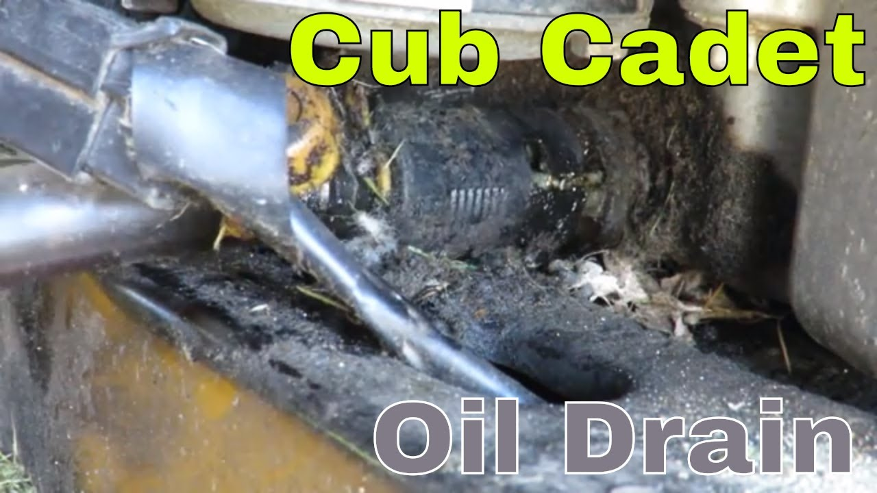 How To Drain The Oil From Cub Cadet Kohler With Quick Drain Plug Youtube