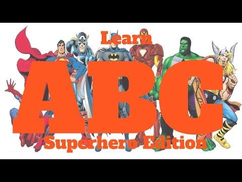 ABC superheroes phonetic alphabet abc song Batman Hulk Spiderman  PJ mask Ninja Turtles phonics